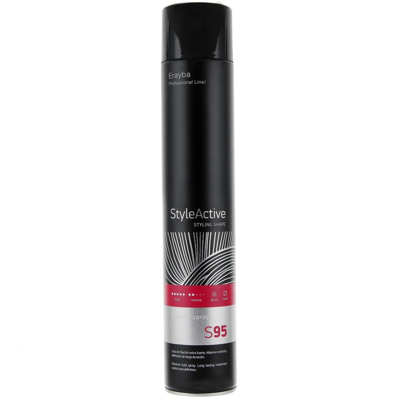 Лак для волосся сильної фіксації Erayba S95 Style Active Extreme Spray 750 мл