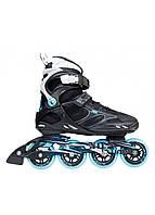 Роликовые коньки Nils Extreme NA5003S Size 40 Black/Blue, фото 1