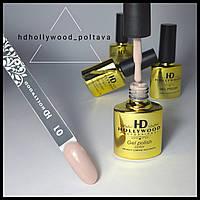 Гель лак 01 Бежевый Светлый Плотный Гель-лаки HD Hollywood