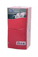Салфетки бумажные красные Tork Advanced 33x33см. 3 сл.