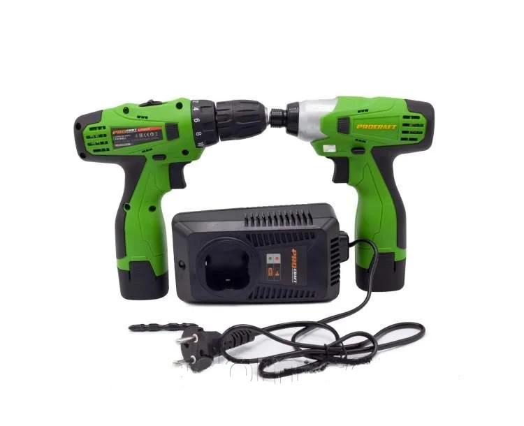 Набор аккумуляторных инструментов ProCraft Industrial РА 168 SET