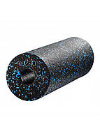 Массажный ролик (валик, роллер) гладкий 4FIZJO EPP PRO+ 45 x 14.5 см 4FJ1141 Black/Blue, фото 1