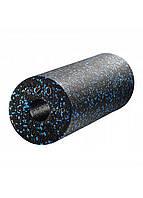 Массажный ролик (валик, роллер) гладкий 4FIZJO EPP PRO+ 45 x 14.5 см 4FJ1141 Black/Blue