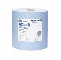 Tork протирочная бумага суперпрочная в рулоне со съемной втулкой голубая