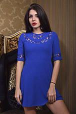 Платье пол рукава креп и гипюр , фото 3