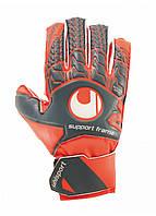 Вратарские перчатки Uhlsport Aerored Soft SF Junior Size 4 Orange/Grey