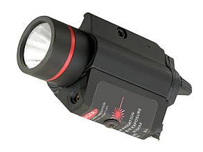 Aluminiowa latarka 180lm z laserem - Black [PCS](для страйкбола)