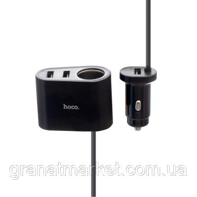 Авто Зарядное Устройство Hoco Z35A Цвет Чёрный