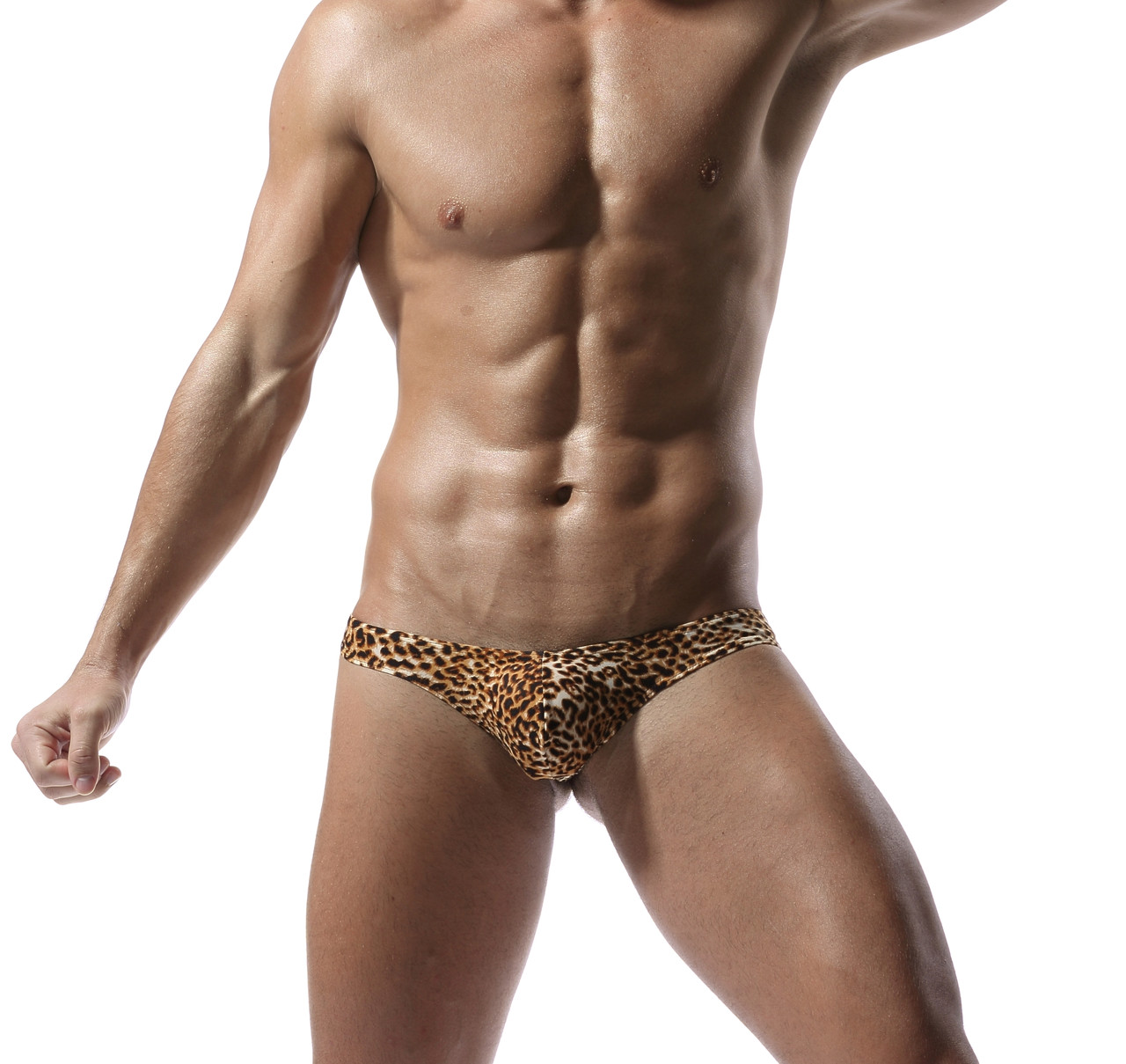 Мужские леопардовые стринги