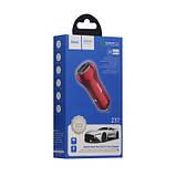 Авто Зарядное Устройство Hoco Z37 Dual QC3.0 Цвет Красный, фото 2