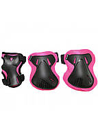 Комплект защитный SportVida SV-KY0006-L Size L Black/Pink, фото 1
