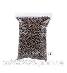 Шарики пенопластовые 4-6 мм,1000 мл, Коричневые для слаймов и декора.
