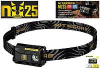 NITECORE NU25 Black 360LM Ультралегкий Налобный фонарь (Сree XP-G2 S3, 10 режимов, 3 спектра / USB), Черный