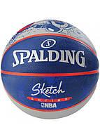 Мяч баскетбольный Spalding NBA Sketch Robot Outdoor Size 7