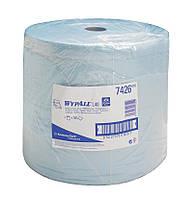 Бумажные протирочные салфетки WYPALL L40 большой рулон синий