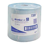 Бумажные протирочные салфетки WYPALL L30 большой рулон синий