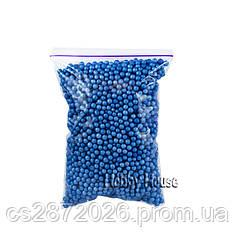 Шарики пенопластовые 4-6 мм,1000 мл, Синие для слаймов и декора.