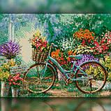 Алмазная вышивка Велосипед у цветочного сада 30x40 The Wortex Diamonds (TWD10042), фото 2