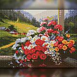 Алмазная вышивка Букет ярких цветов на терассе 30x40 The Wortex Diamonds (TWD10059), фото 2
