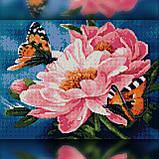Алмазная вышивка Бабочки на нежных цветках 30x40 The Wortex Diamonds (TWD10064), фото 2