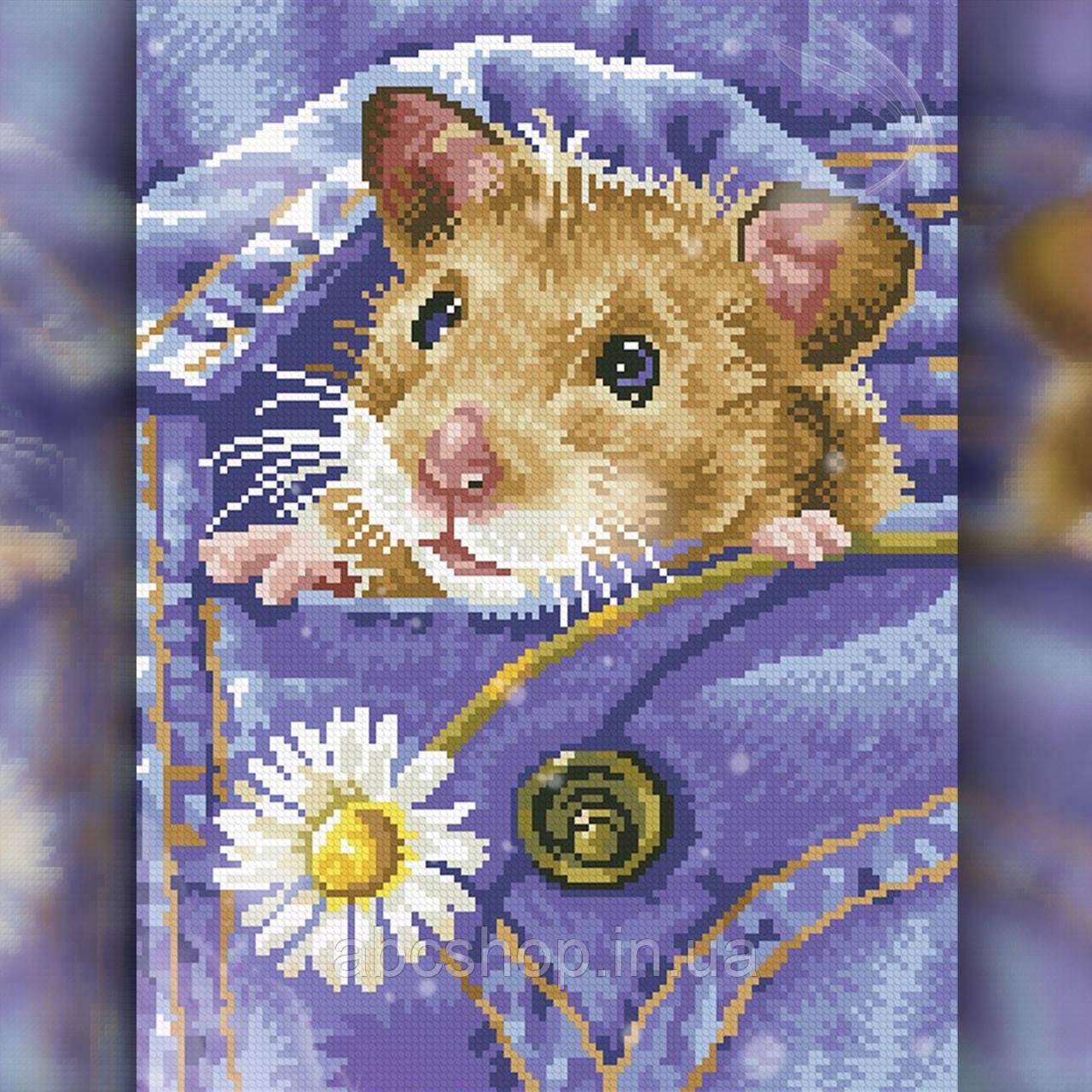 Алмазная вышивка Мышка в кармане 30x40 The Wortex Diamonds (TWD20041)