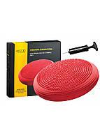 Балансировочная подушка (сенсомоторная) массажная 4FIZJO MED+ 4FJ0052 Red, фото 1