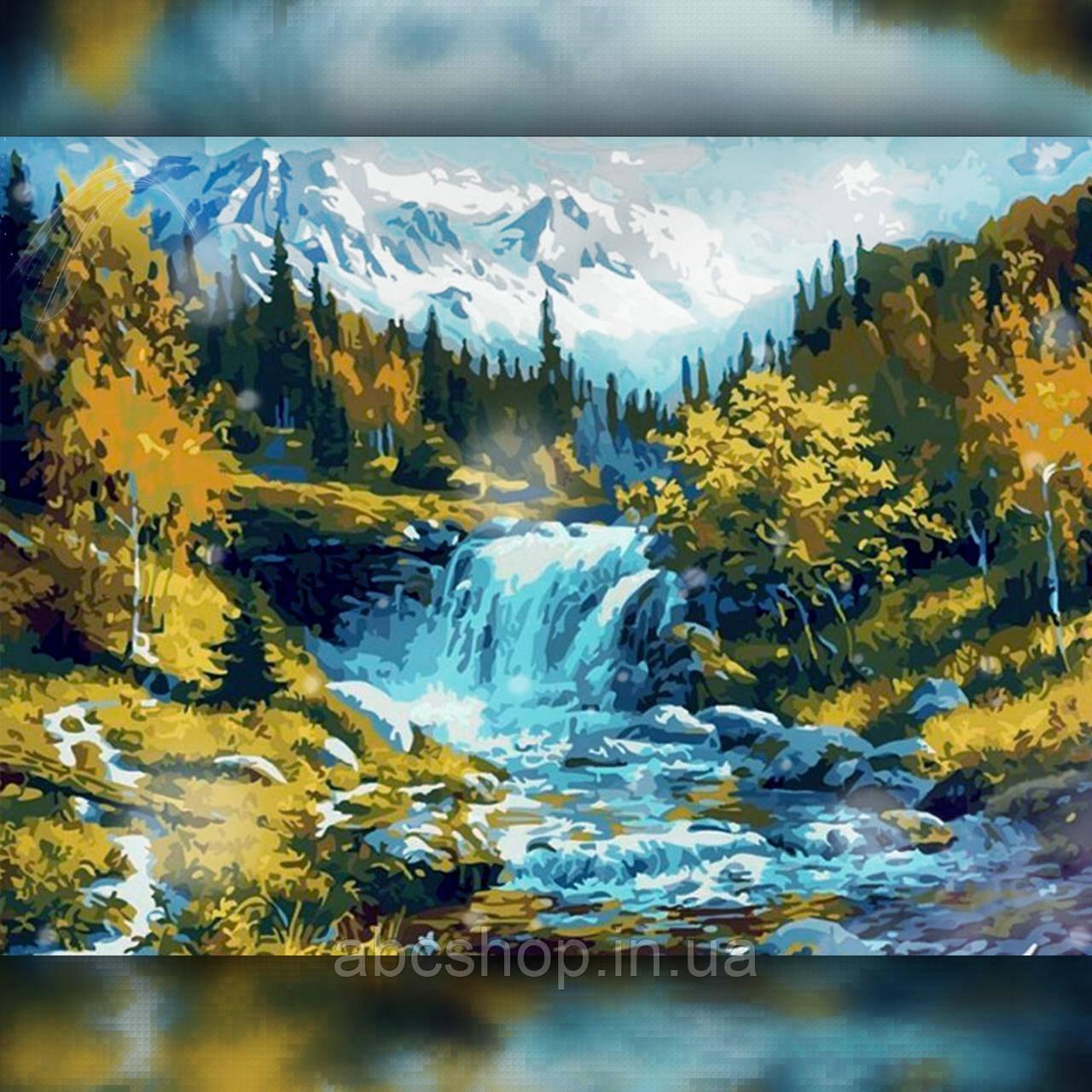 Алмазная вышивка Лесной водопад 30x40 The Wortex Diamonds (TWD30043)
