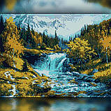 Алмазная вышивка Лесной водопад 30x40 The Wortex Diamonds (TWD30043), фото 2