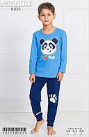 Трикотажная пижама с принтом панды мальчикам 3-8 лет