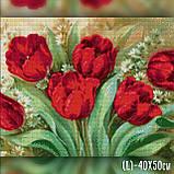 Алмазная вышивка Яркие тюльпаны 40x50 The Wortex Diamonds (TWD10061L), фото 2