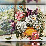 Алмазная вышивка Яркий букет у окна 40x50 The Wortex Diamonds (TWD10065L), фото 2