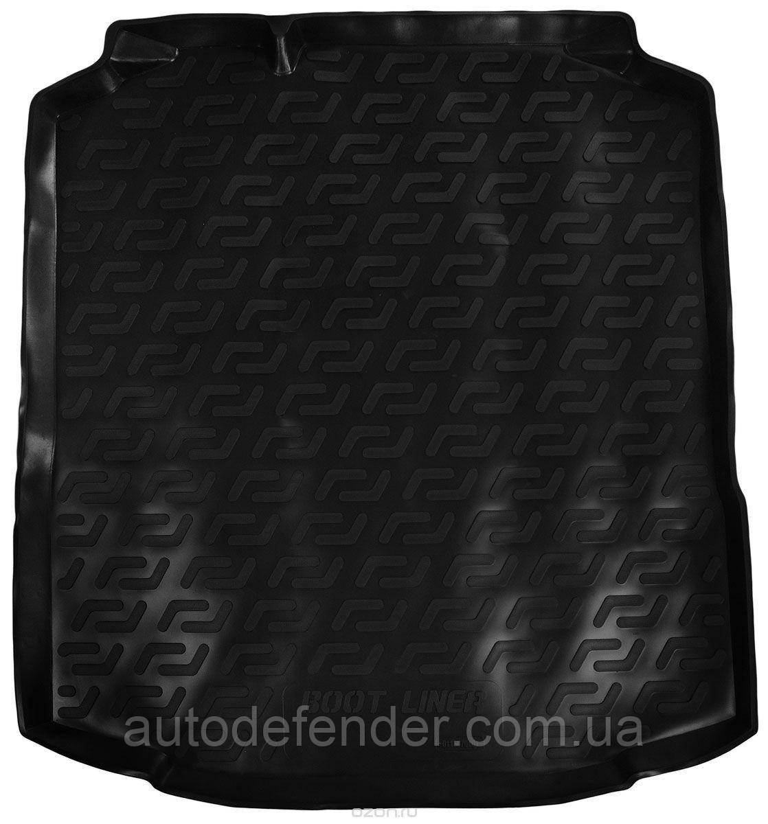 Коврик в багажник для Skoda Rapid 2013-, резино-пластиковый (Lada Locker)