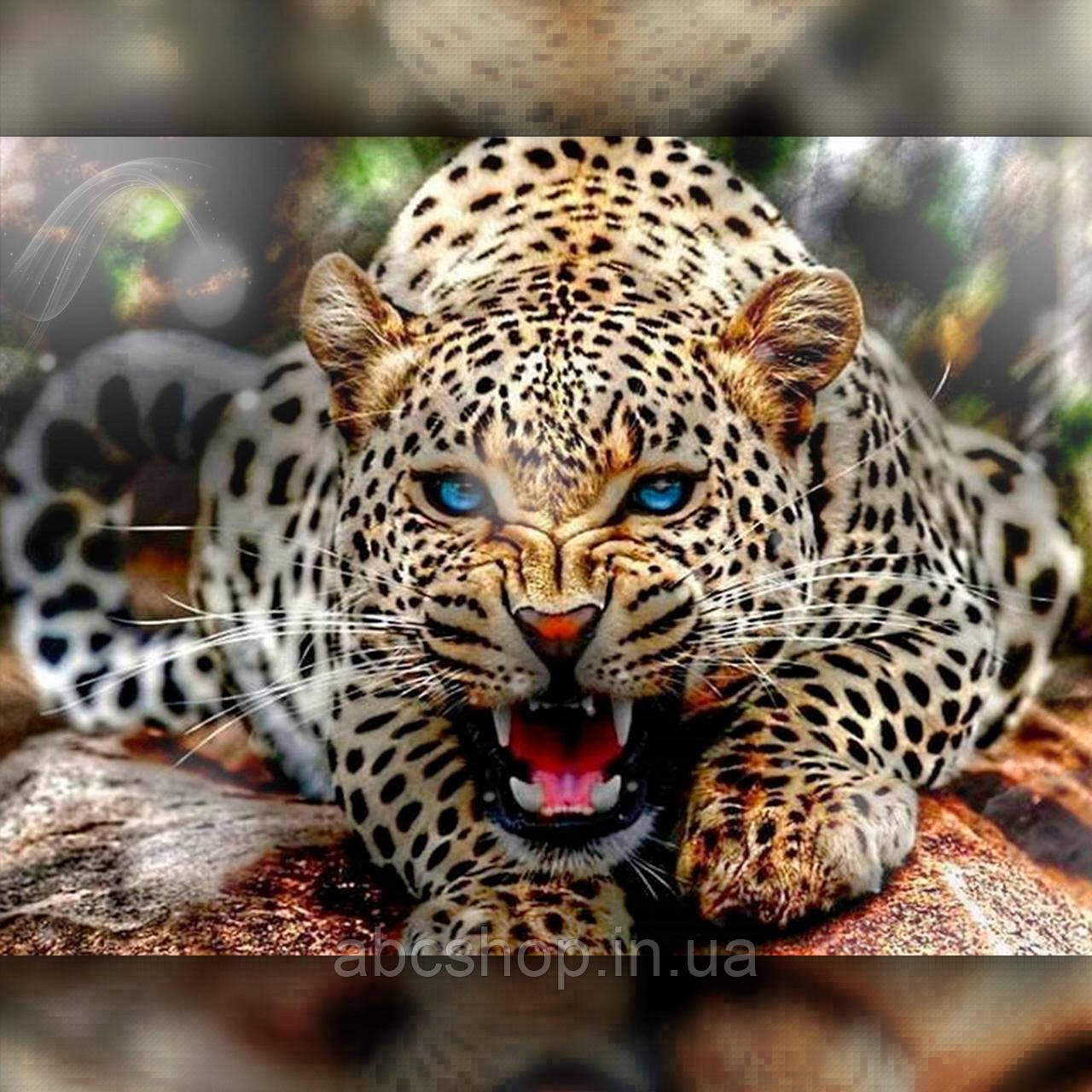 Алмазная вышивка Злой леопард 40x50 The Wortex Diamonds (TWD20065L)