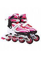 Роликовые коньки SportVida SV-LG0044 Size 39-42 White/Pink, фото 1