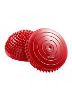 Полусфера массажная балансировочная (массажер для ног, стоп) 4FIZJO Balance Pad 16 см 4FJ0109 Red, фото 1