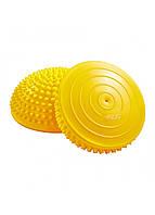 Полусфера массажная балансировочная (массажер для ног, стоп) 4FIZJO Balance Pad 16 см 4FJ0110 Yellow, фото 1