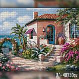 Алмазная вышивка Цветочный дом у моря 40x50 The Wortex Diamonds (TWD30052L), фото 2