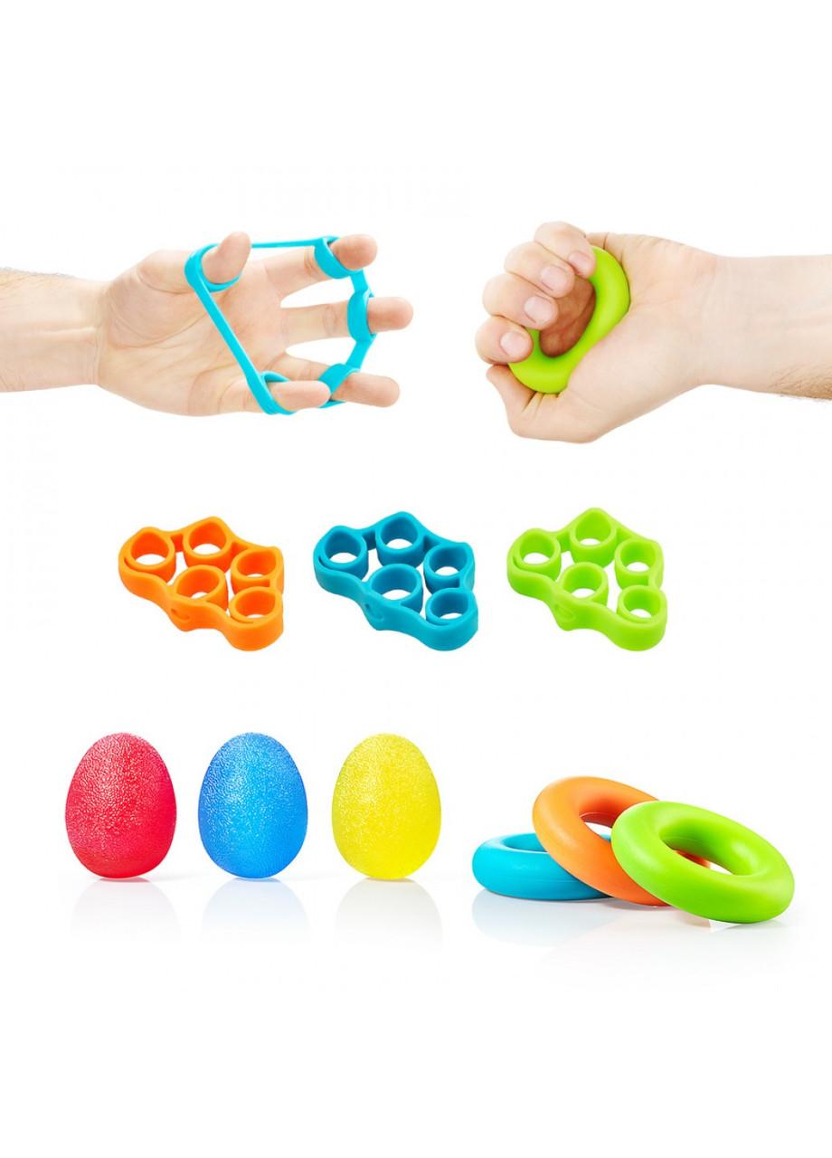 Набор эспандеров 9 шт для пальцев и запястья 4FIZJO 4FJ0133