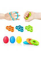 Набор эспандеров 9 шт для пальцев и запястья 4FIZJO 4FJ0133, фото 1