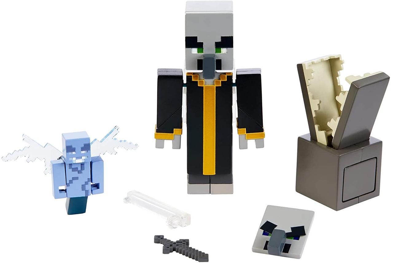 Набор фигурок Майнкрафт Эвокер и Векс Minecraft Comic Maker Multipack Attack Set with Evoker and Vexes