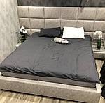 Ліжко двоспальне 160х200 Кассандра, ортопедична, ламелі, еко шкіра, тканина, короб. Під замовлення, фото 3