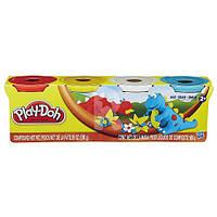 """Пластилин Play-Doh (Плей до) Дино Набор массы для лепки, 4 баночки по 140г,  """"Животные"""" Hasbro (Хасбро)"""