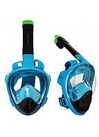 Маска для снорклинга (плавания) SportVida SV-DN0022 Size L/XL Black/Blue, фото 1