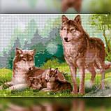 Алмазная вышивка Семья волков 30x40 The Wortex Diamonds (TWD20004), фото 2