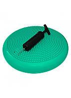 Балансировочная подушка (сенсомоторная) массажная SportVida SV-HK0310 Mint, фото 1