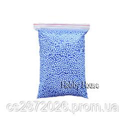 Шарики пенопластовые 2-4 мм,1000 мл, Ультрамарин, для слаймов и декора.