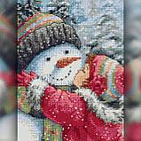 Алмазная вышивка Снеговичек девочки 30x40 The Wortex Diamonds (TWD70012), фото 2