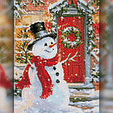 Алмазная вышивка Снеговик у дома 30x40 The Wortex Diamonds (TWD70014), фото 2