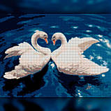 Алмазная вышивка Танец лебедей 30x40 The Wortex Diamonds (TWD20020), фото 2