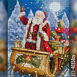Алмазная вышивка Дед Мороз на санях 40х50 The Wortex Diamonds (TWD70004), фото 2